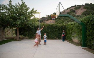 family ammouda villas basketball court