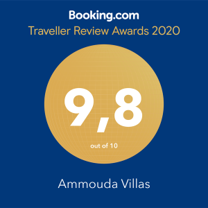 booking award 2020 - ammouda villas