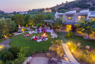 night event ammouda villas campfire