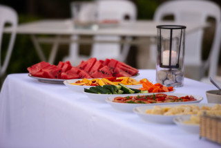 night event ammouda villas food